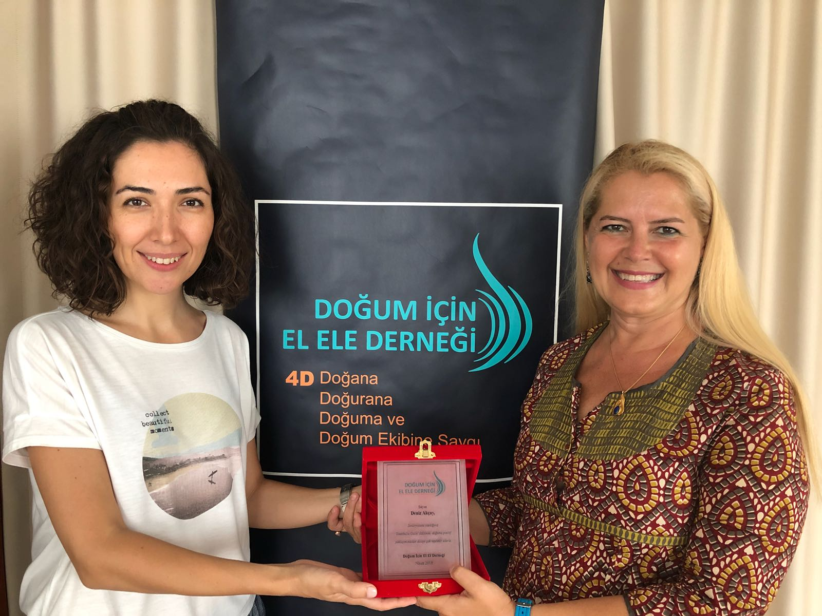 We Have Given an Appreciation Plate to Screenwriter Deniz Akçay and 03 Media Productions