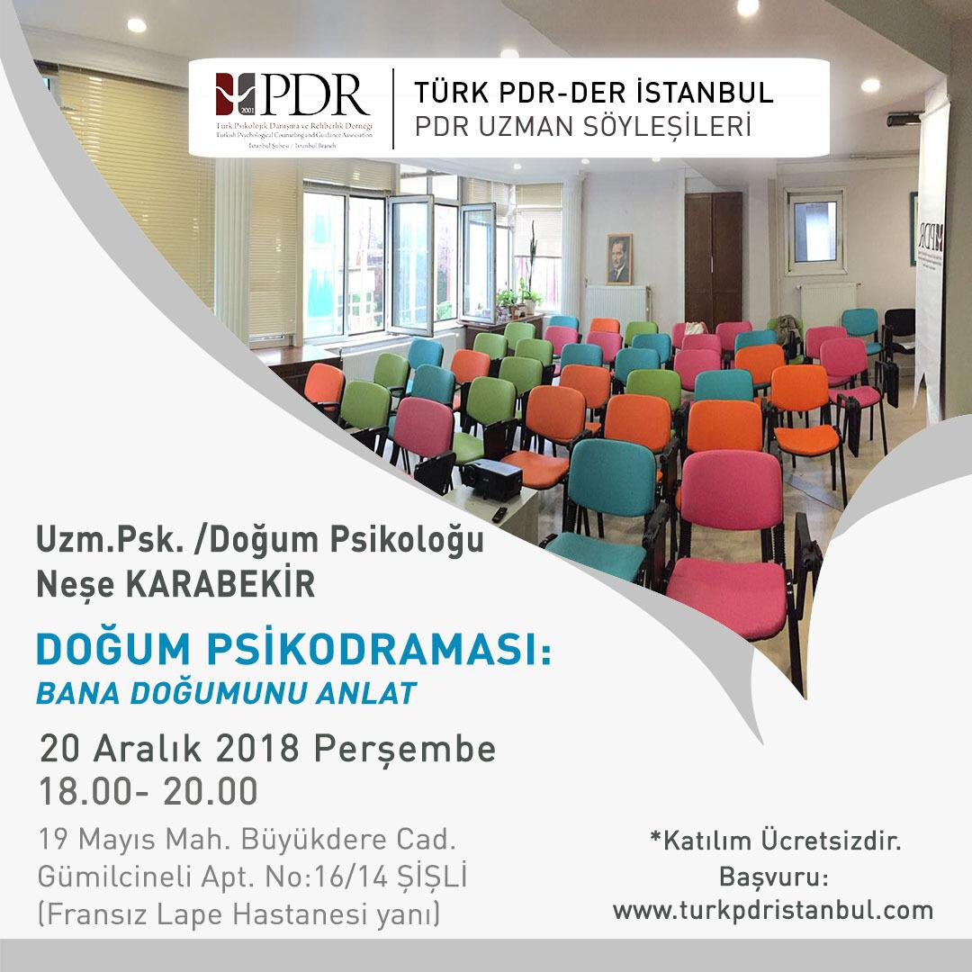 "PDR İstanbul ""Birth Psychodrama: Tell Me About Your Birth"" Conversation"