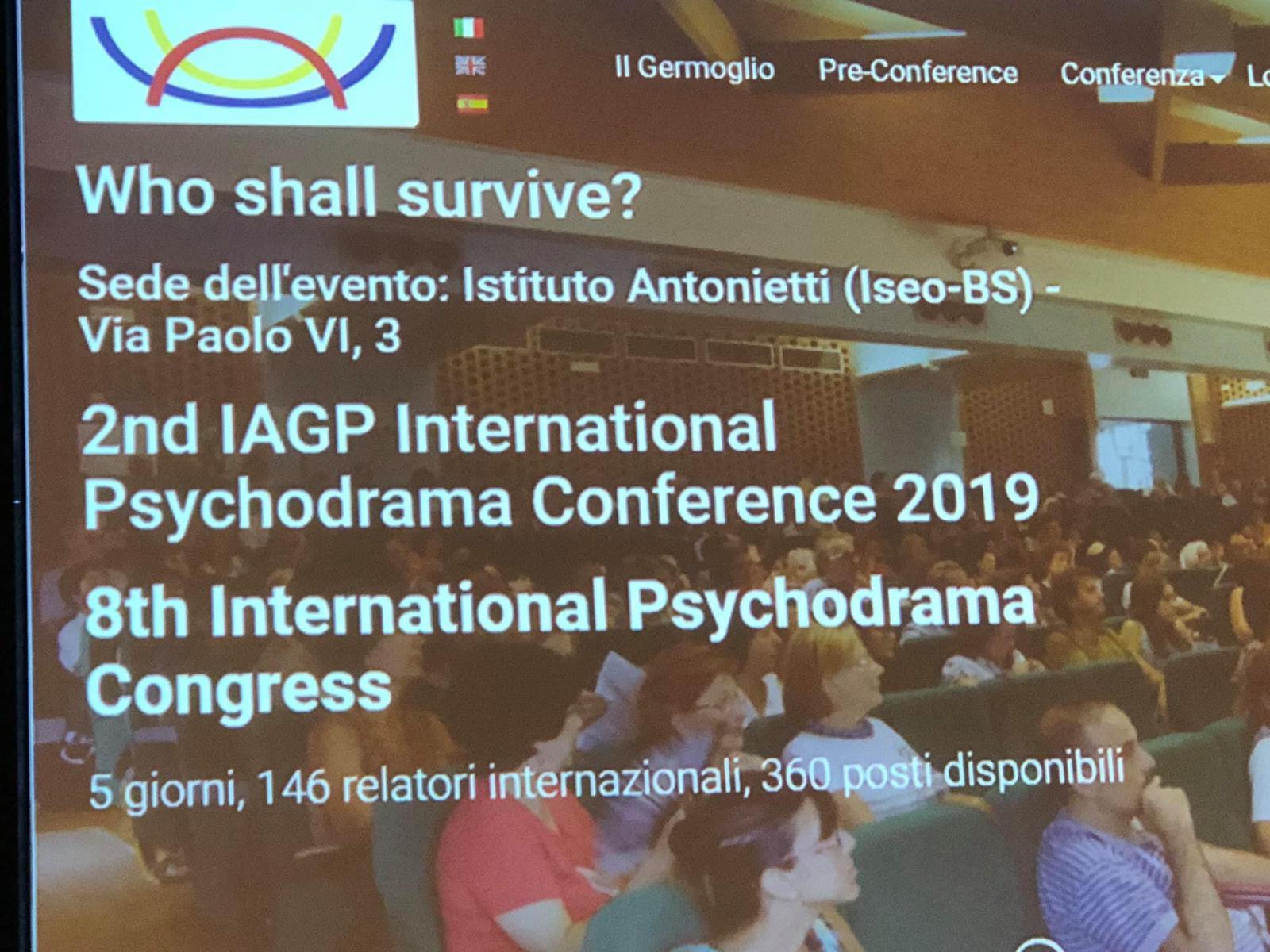 Uluslararası IAGP Psikodrama Kongresi İtalya'da gerçekleştirildi